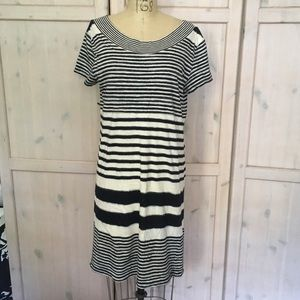 Maeve Anthropologie striped shift dress